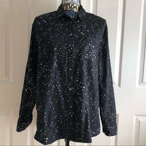 Madewell Oversized Ex-Boyfriend Star Print Shirt